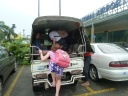 Our lift from the Yangon airport